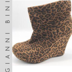 Gianni Bini- Slouchy Cheetah Hidden wedge bootie 9